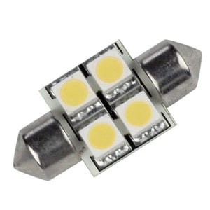 Lunasea Pointed Festoon 4 LED Light Bulb - 31mm - Cool White