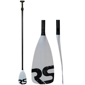 RAVE Tempo SUP Paddle - Carbon Fiber Shaft - White