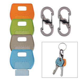 Nite Ize IdentiKey™ Covers - 4-Pack Assorted + S-Biner Combo