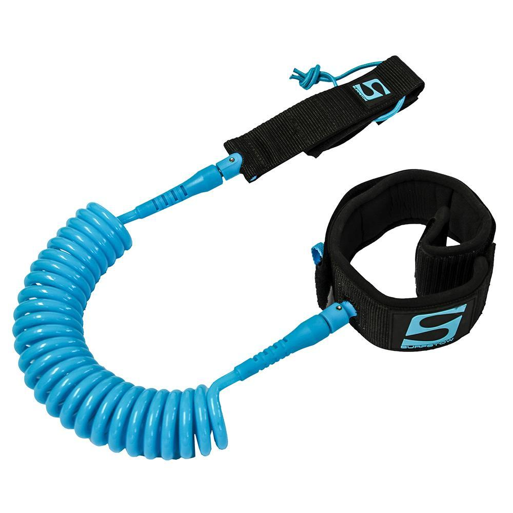 SurfStow SUP Leash - Coiled Calf - 10' - Seafoam