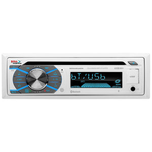 Boss Audio MR508UABW Single-DIN CD-USB-SD-MP3-WMA-AM-FM Receiver w-Bluetooth