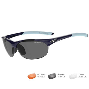 Tifosi Wisp Midnight Blue Sunglasses - Smoke-AC Red™-Clear