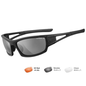 Tifosi Z87.1 Dolomite 2.0 Tactical Safety Sunglasses - Smoke-HC Red-Clear