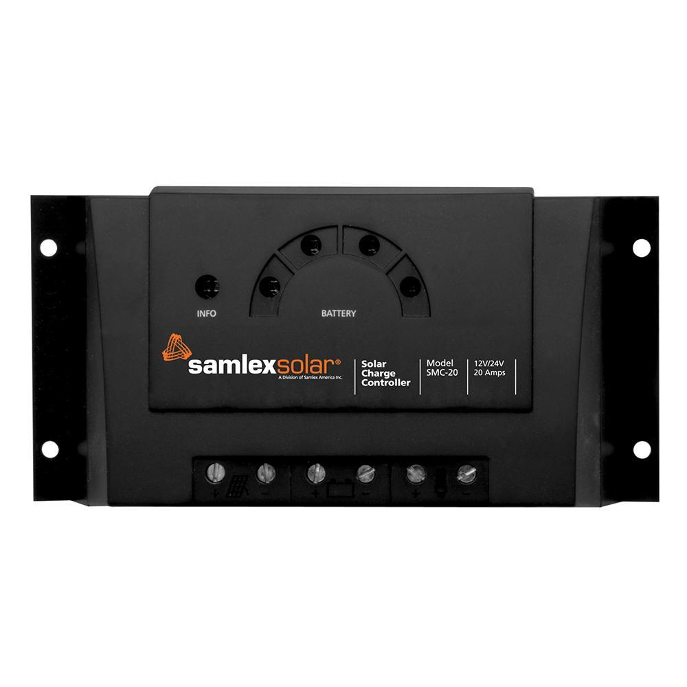 Samlex Charge Controller w-LED Display - 12V-24V - 20A