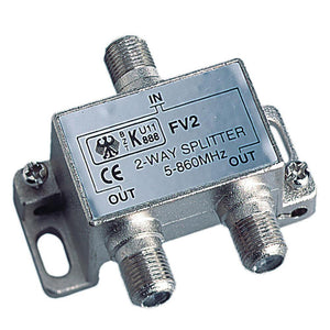 Glomex 2-Way Splitter TV - TV or TV - FM