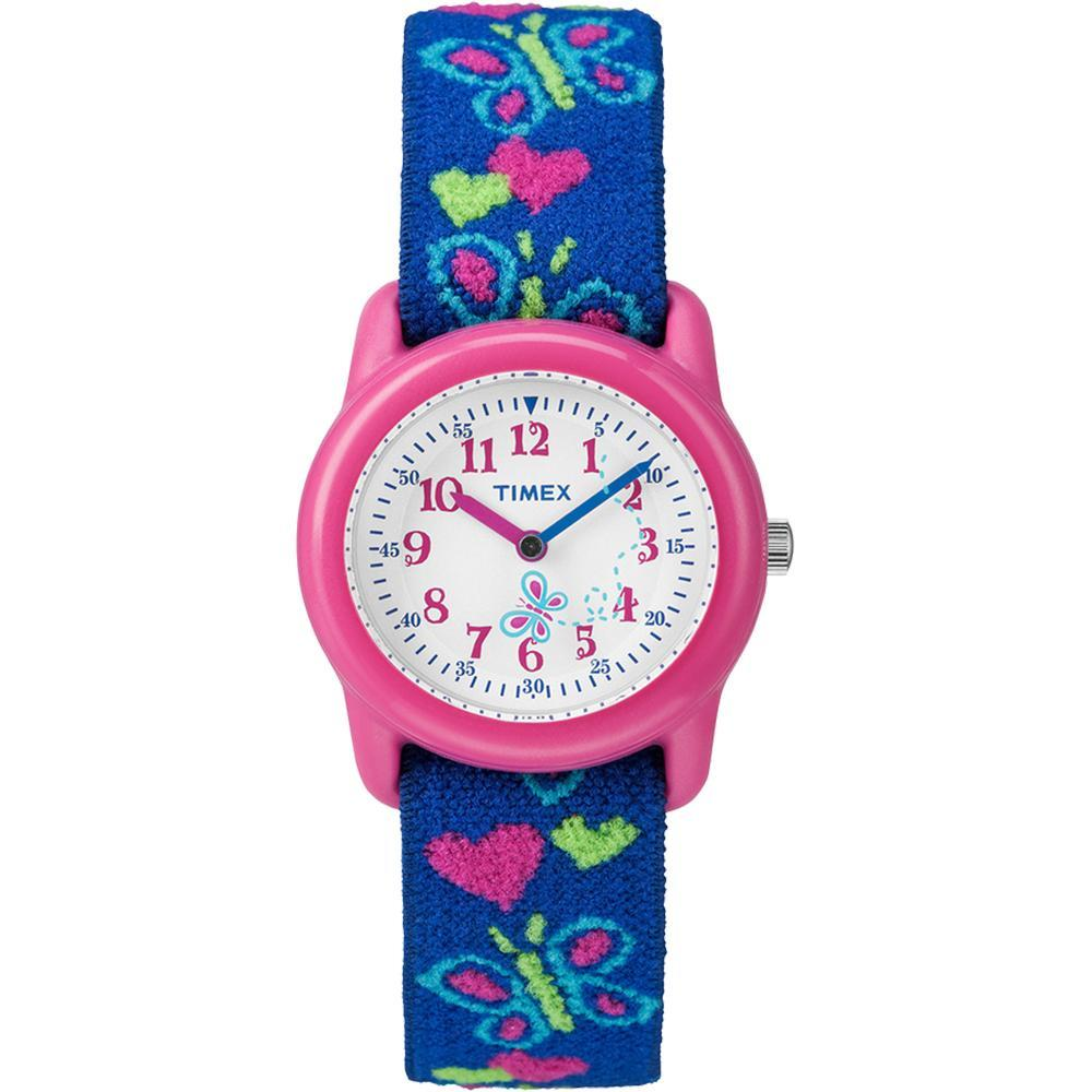 Timex Kid's Analog Watch w-Elastic Fabric Band - Butterflies