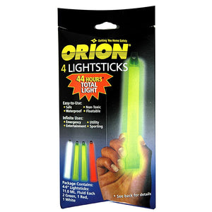 Orion Lightsticks - 4-Pack Includes 2-Green, 1-White & 1-Red