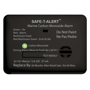 Safe-T-Alert 62 Series Carbon Monoxide Alarm w-Relay - 12V - 62-541-R-Marine - Surface Mount - Black