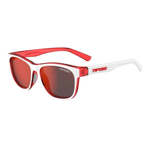 Tifosi Swank Icicle Red Sunglasses - Smoke Red