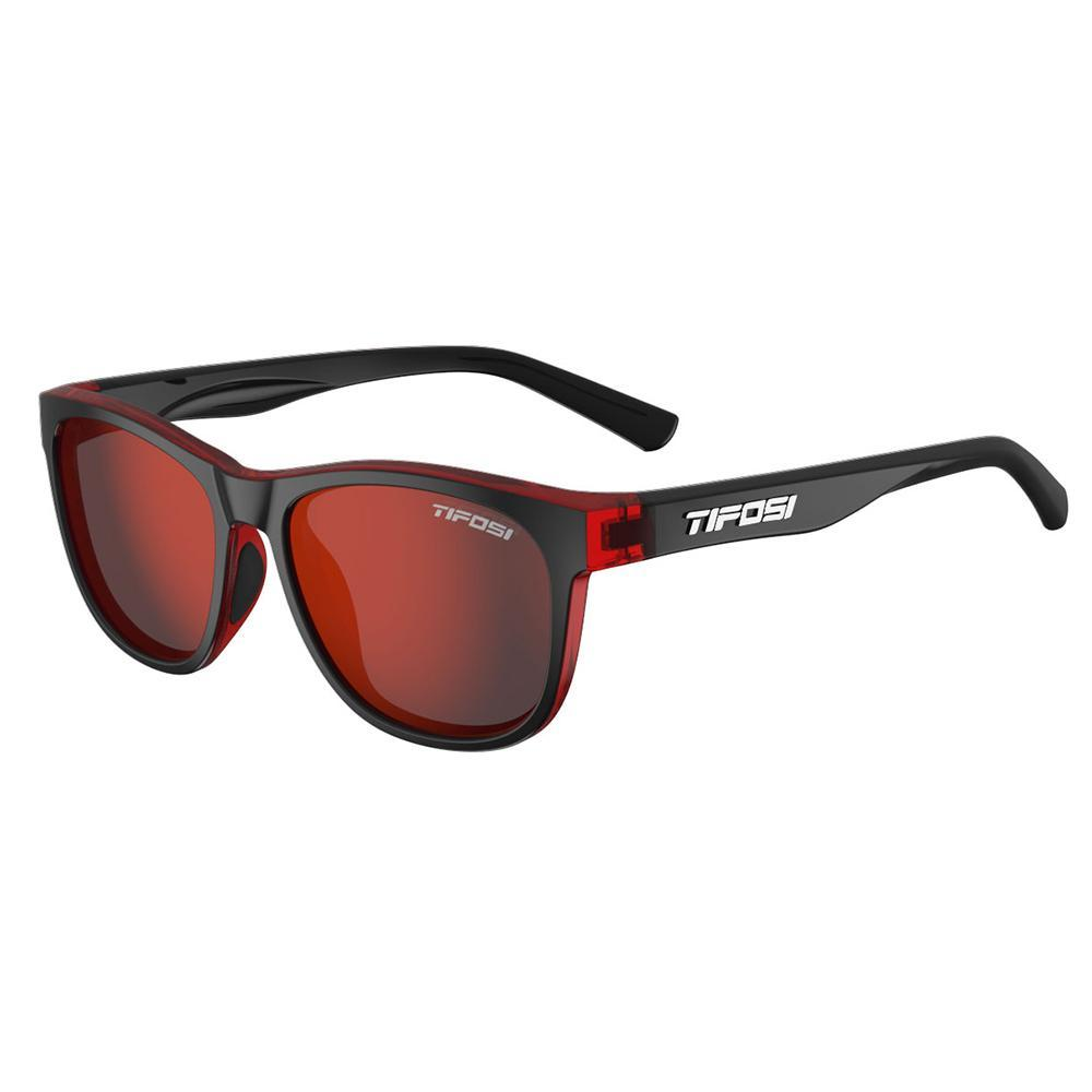 Tifosi Swank Crimson Onyx Sunglasses - Smoke Red