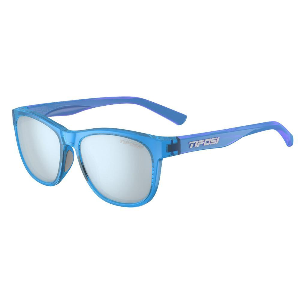 Tifosi Swank Crystal Sky Blue Sunglasses - Smoke Bright Blue