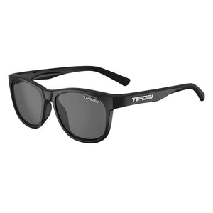 Tifosi Swank Satin Black Sunglasses - Smoke Polarized