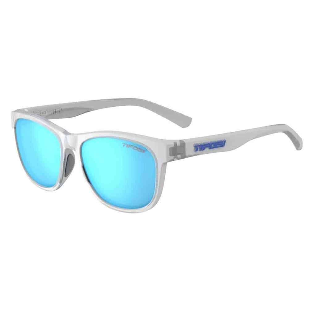 Tifosi Swank Satin Clear Sunglasses - Clarion Blue Polarized