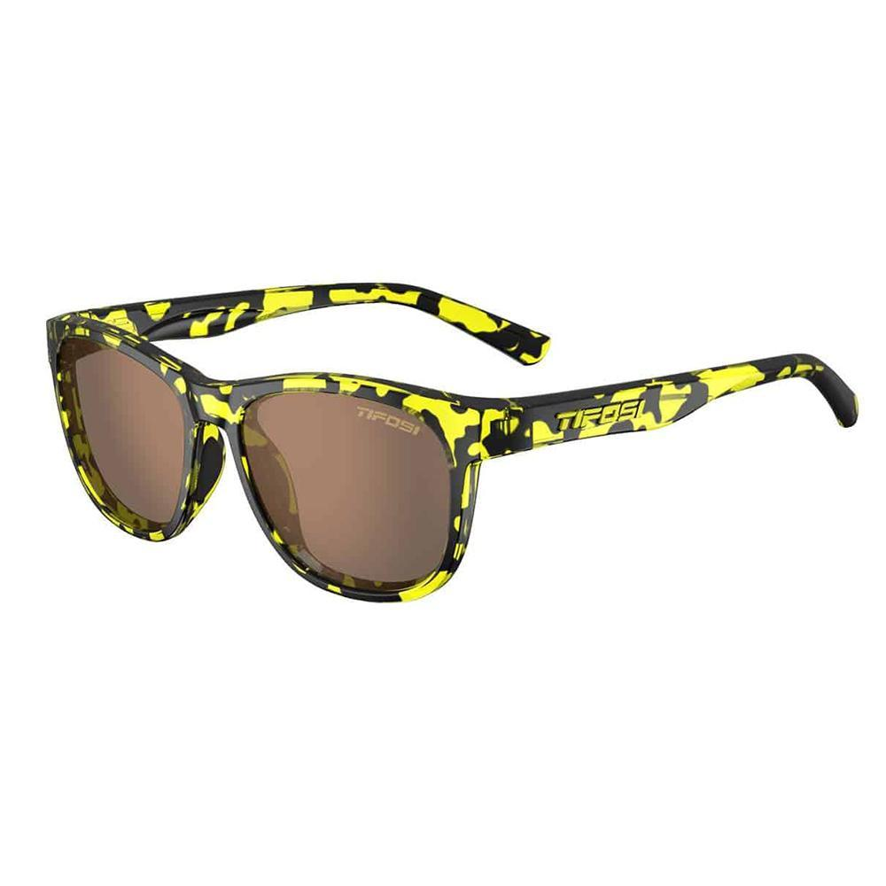 Tifosi Swank Yellow Confetti Sunglasses - Brown Polarized
