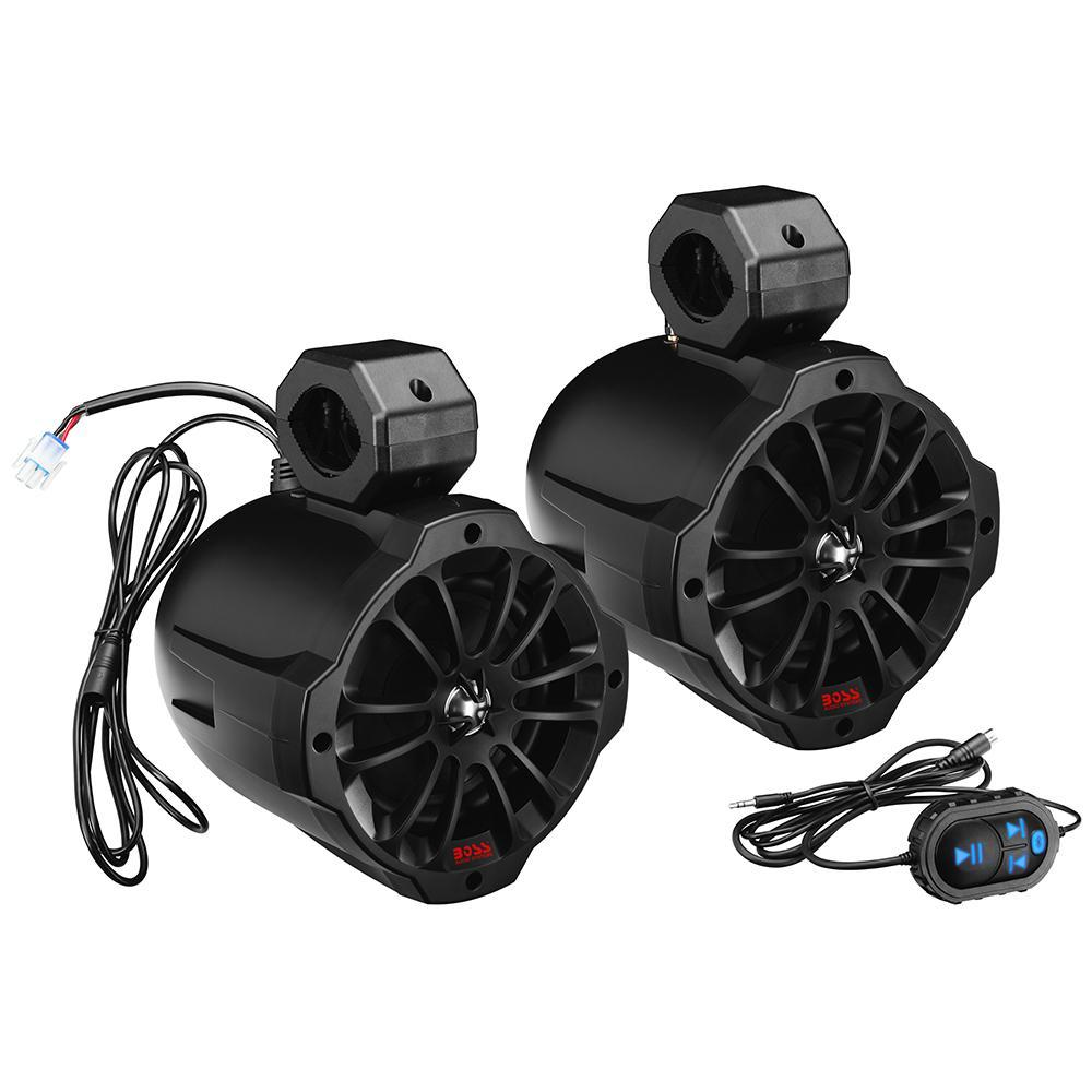 "Boss Audio B62ABT 6.5"" 2-Way Amplified Waketower Speakers w-Bluetooth Controller"
