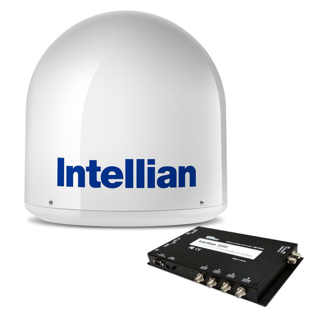 Intellian i2 US System + DISH-Bell MIM Switch & 15M RG6 Cable