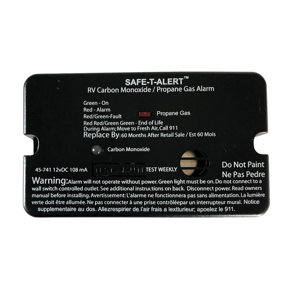 Safe-T-Alert 45-Series Combo Carbon Monoxide Propane Alarm Surface Mount - Black