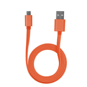 Tangle- Free 2.0 MICRO USB Charging and Sync Cable - Orange