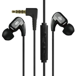 Sporty Stereo Corded Earphone - Black  WE102M