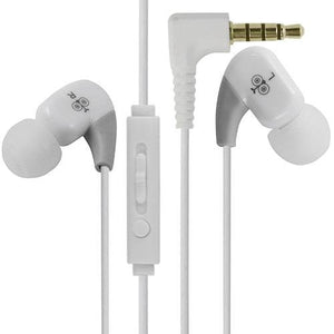 Sporty Stereo Corded Earphone - White  WE102M