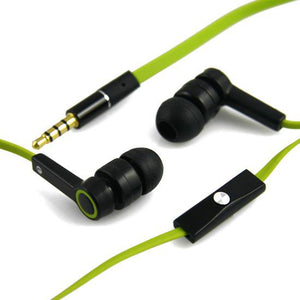 Stereo Corded Earphone With Mic WE104M - Green / Black