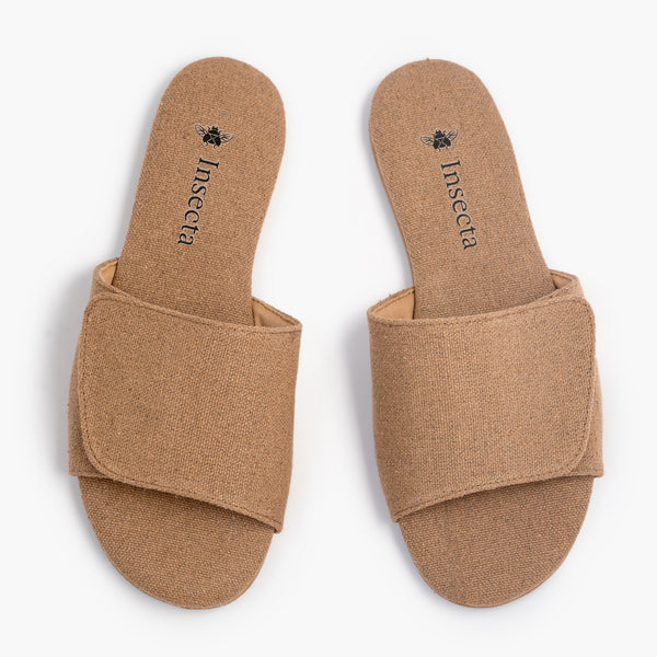 Mono Beige Slipper - Insecta Shoes
