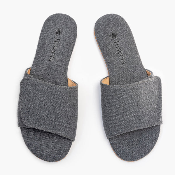 Mono Gris Slipper - Insecta Shoes