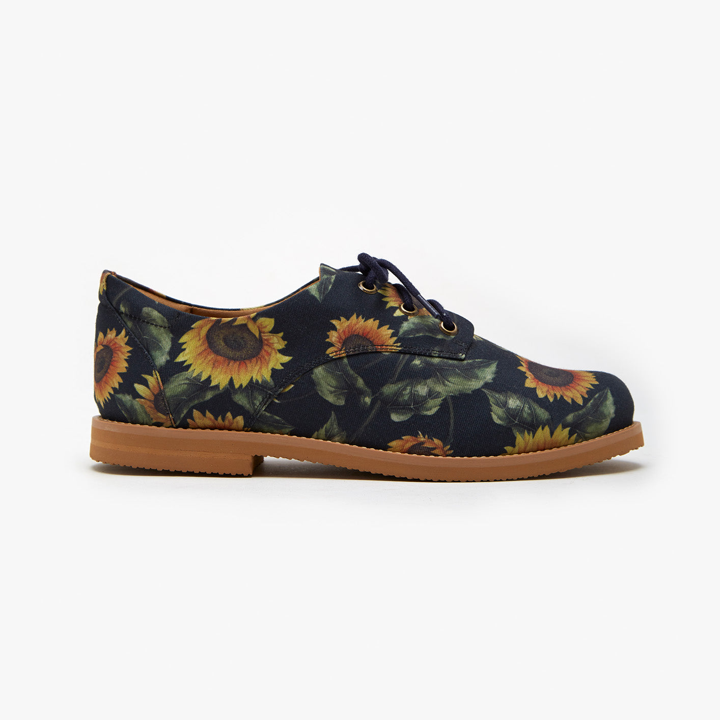 Navy Blue Sunflower Oxford - Insecta Shoes