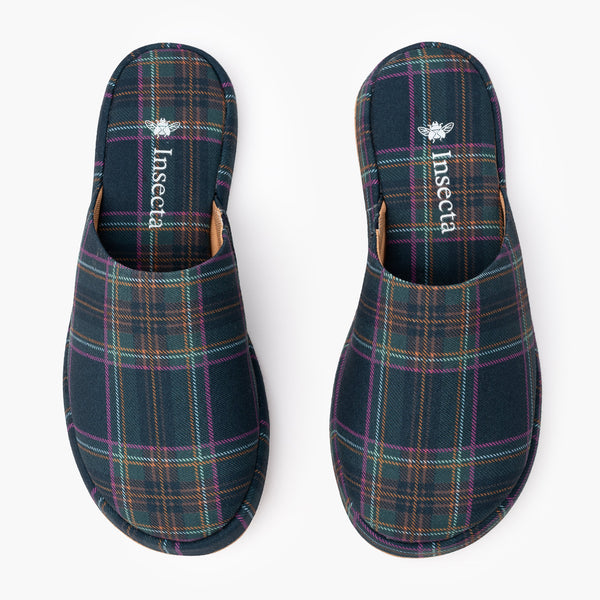 Tartan Slipper - Insecta Shoes