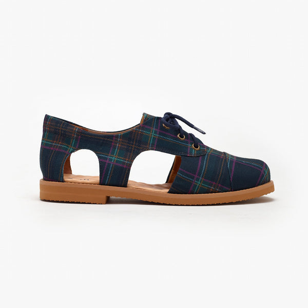 Tartan Cutout Oxford - Insecta Shoes