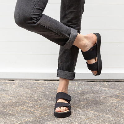 Mono Black Strap Sandal - Insecta Shoes