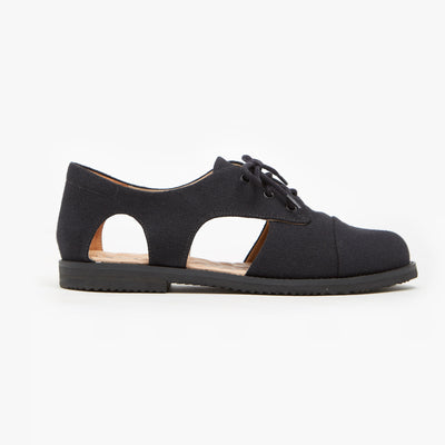 Mono Black Cutout Oxford - Insecta Shoes