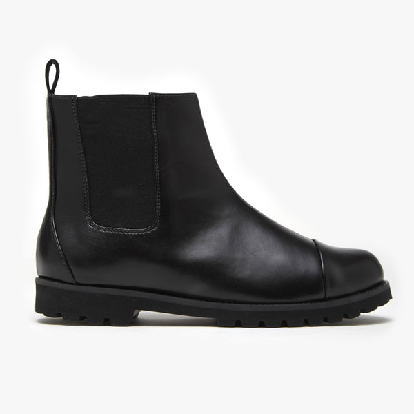 Classic Black Chelsea Boot - Insecta Shoes