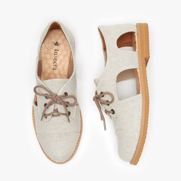 Canvas Cutout Oxford - Insecta Shoes