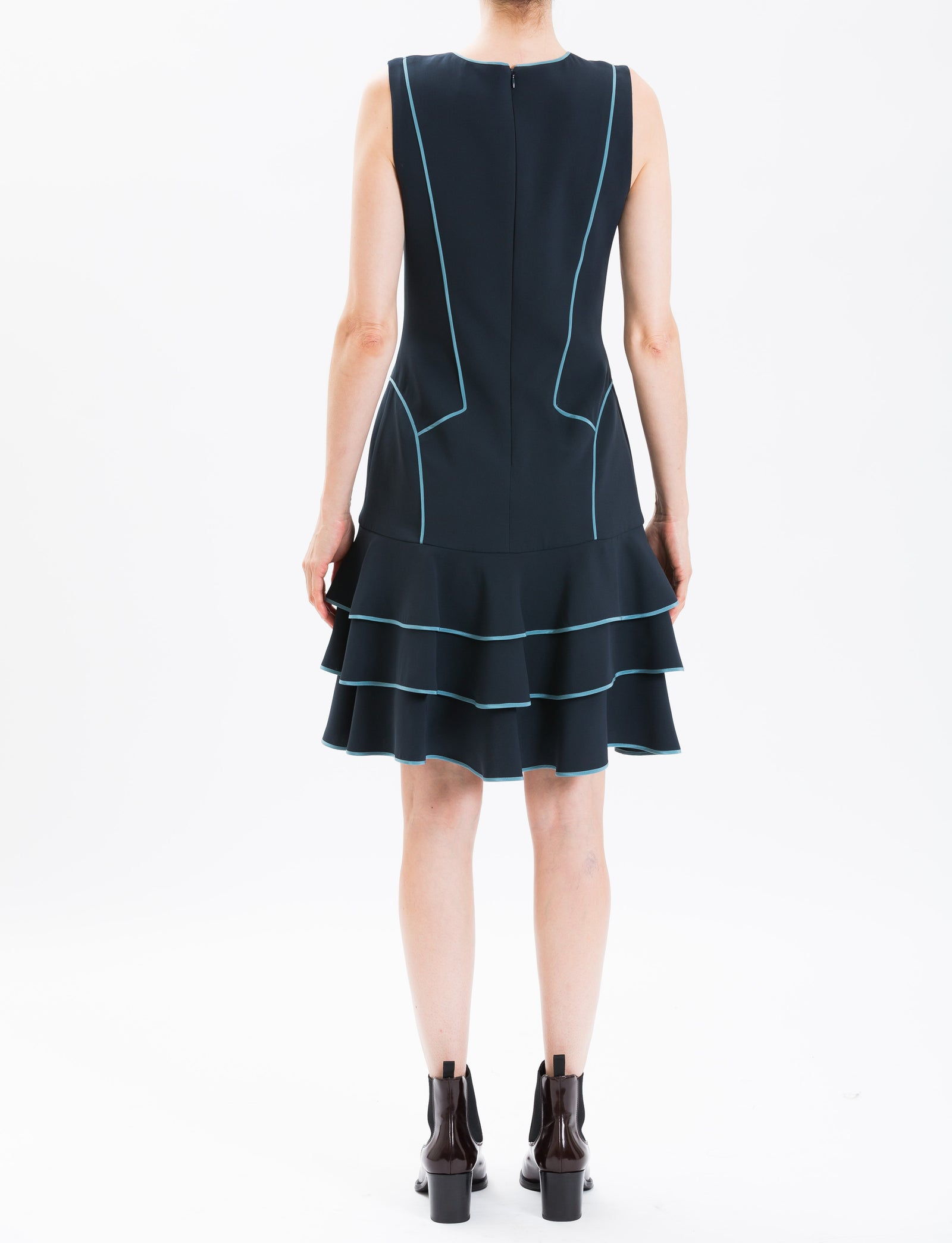 Midnight Sleeveless Day Dress