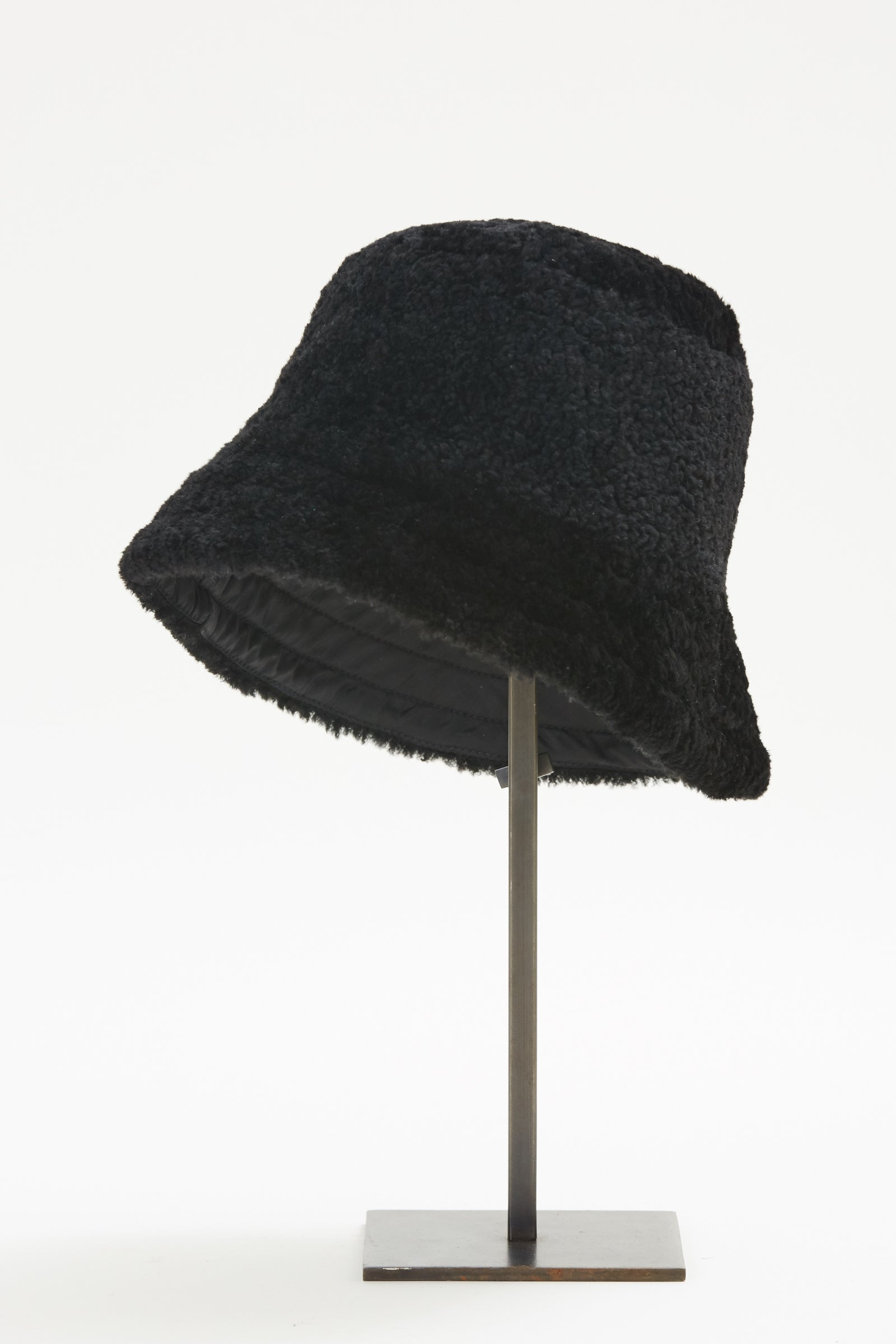 Pre-Order Black Shearling Bucket Hat