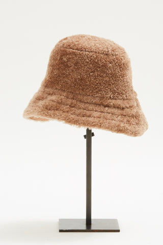 Sand Shearling Bucket Hat