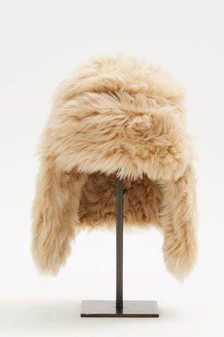 Pre-Order Dusty Rose Shearling Trapper Hat