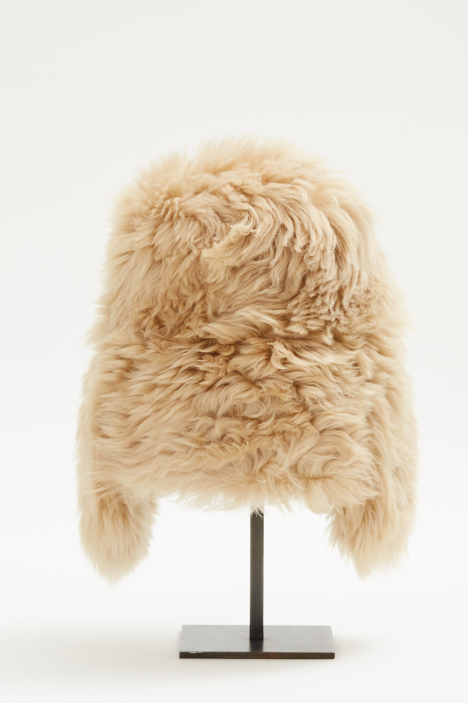 Pre-Order Sand Shearling Trapper Hat