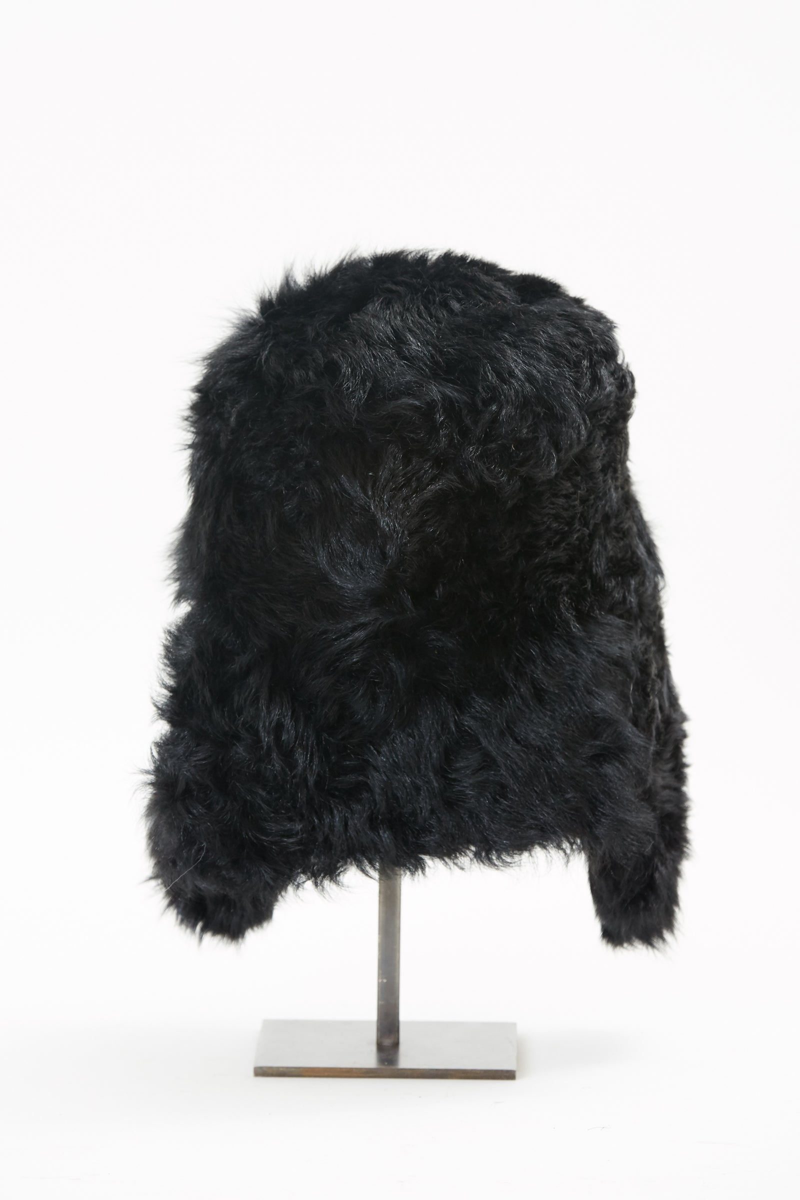 Pre-Order Black Shearling Trapper Hat
