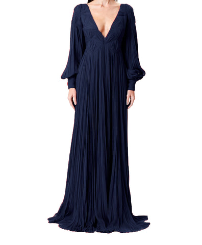 Noir Velvet Metallic Gown