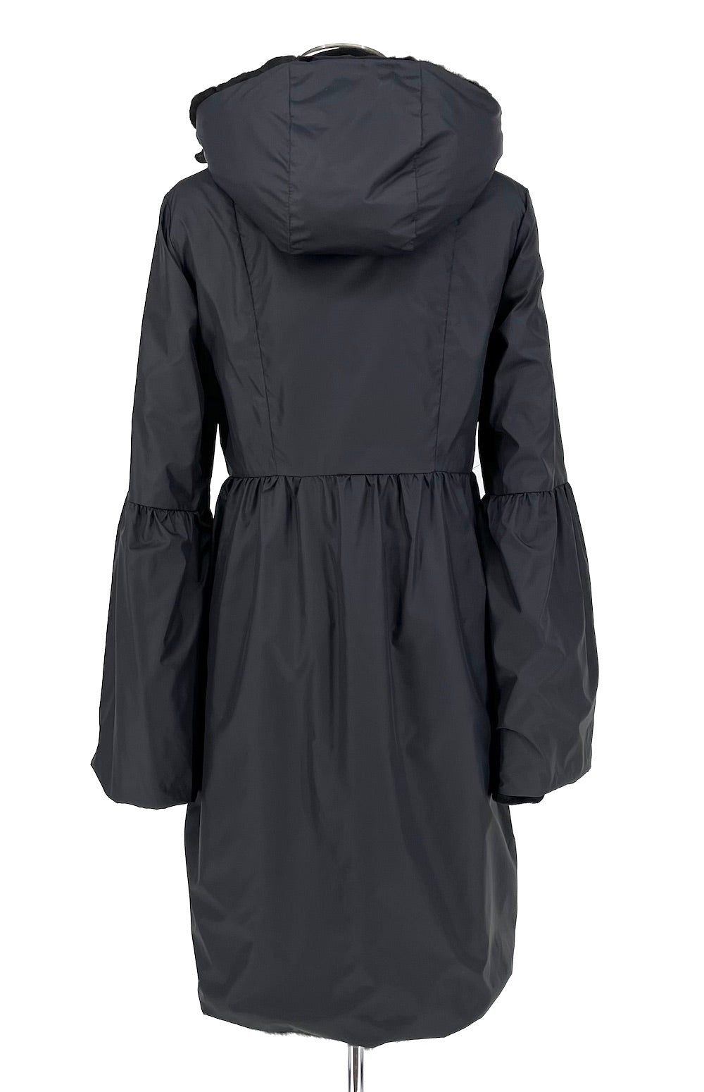 Black Sheared Mink Reversible Coat