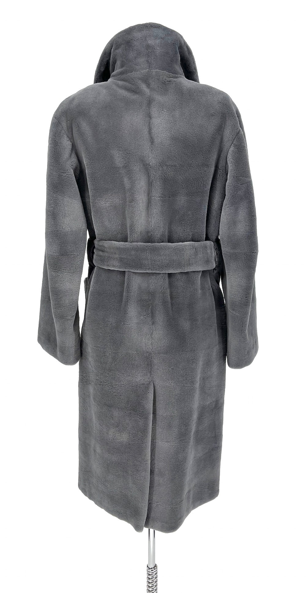 Steel Grey Sheared Mink Coat