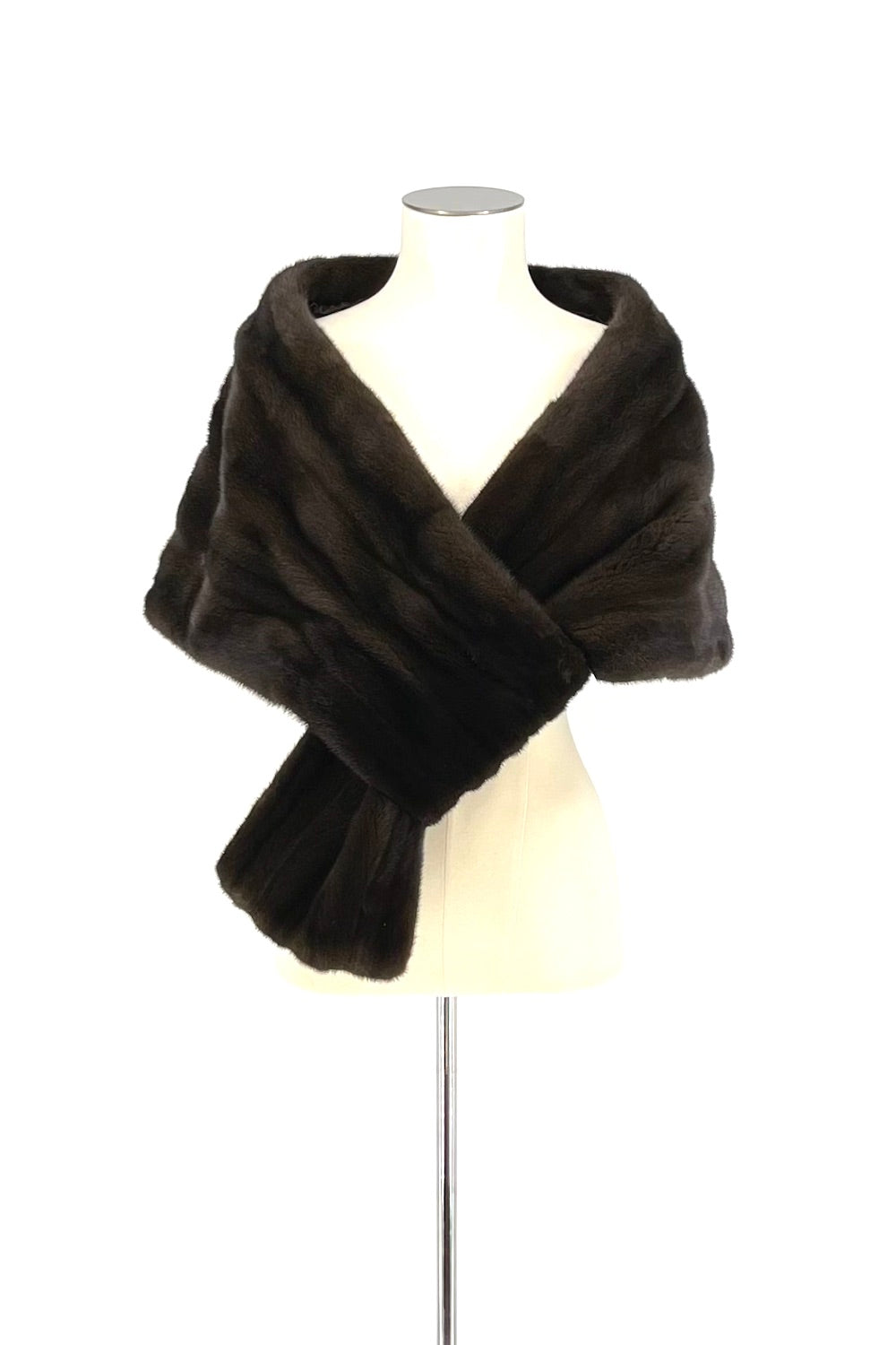 Natural Mahogany Mink Pull Through Stole