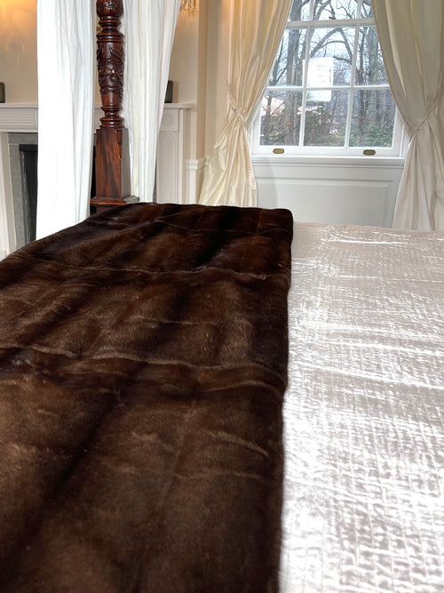 Mahogany Mink Blanket with Cashmere