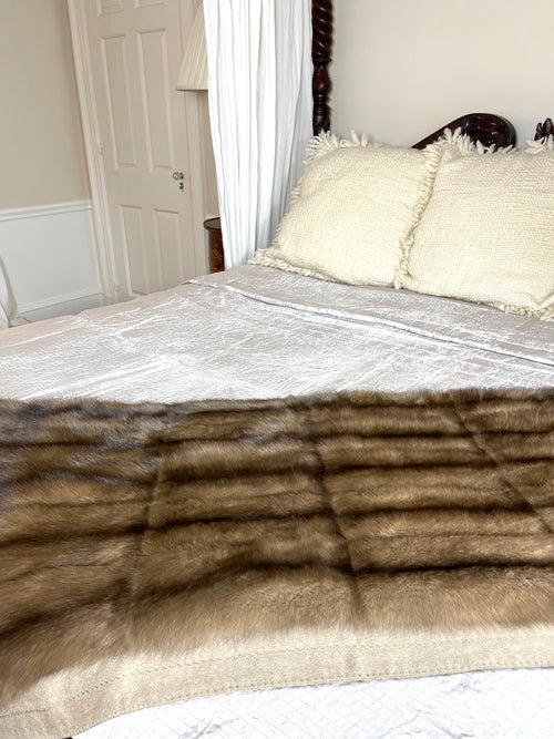 Tortora Sable Blanket with Cashmere