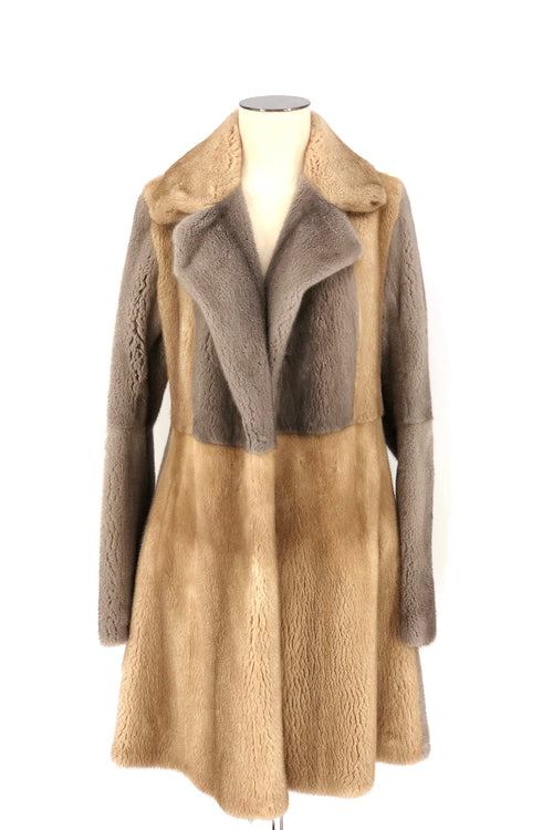 Sand Grey Reversible Mink Coat