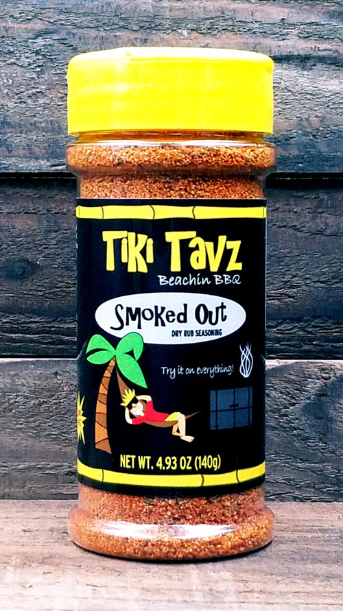 (3rd Place Scovie Award Winner!) Tiki Tavz 'Smoked Out' BBQ Dry Rub Seasoning
