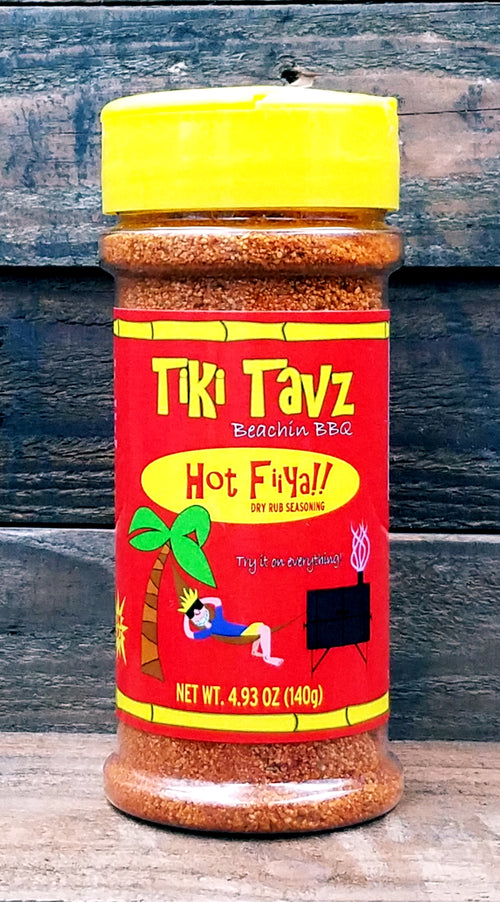 Tiki Tavz Beachin BBQ Hot Fiiya!! BBQ Dry Rub