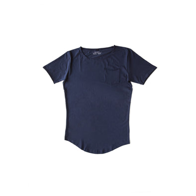 The Scallop Tee - Navy